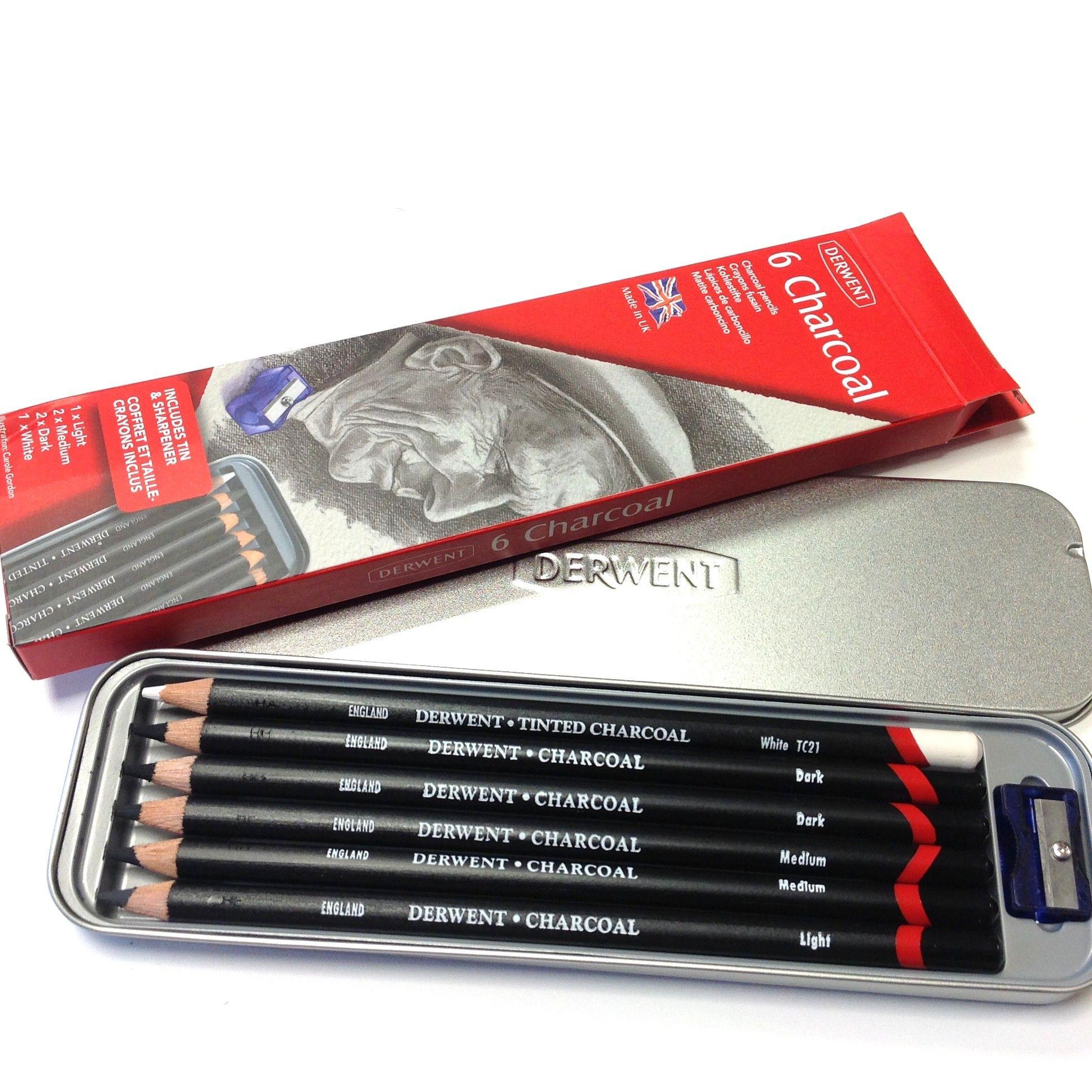 Derwent Tinted Charcoal Pencils Derwent Pencil