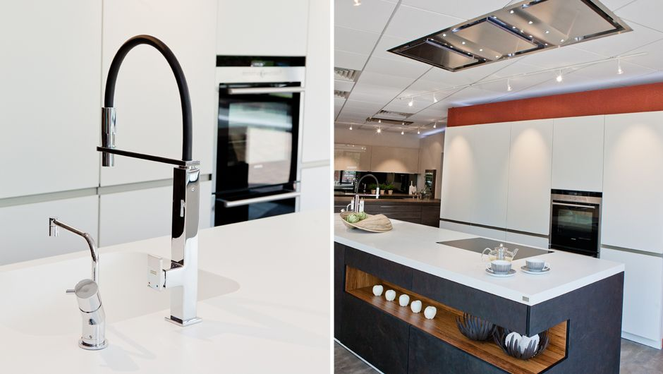 A Black Slate and White designer German kitchen by Rempp. The design ...