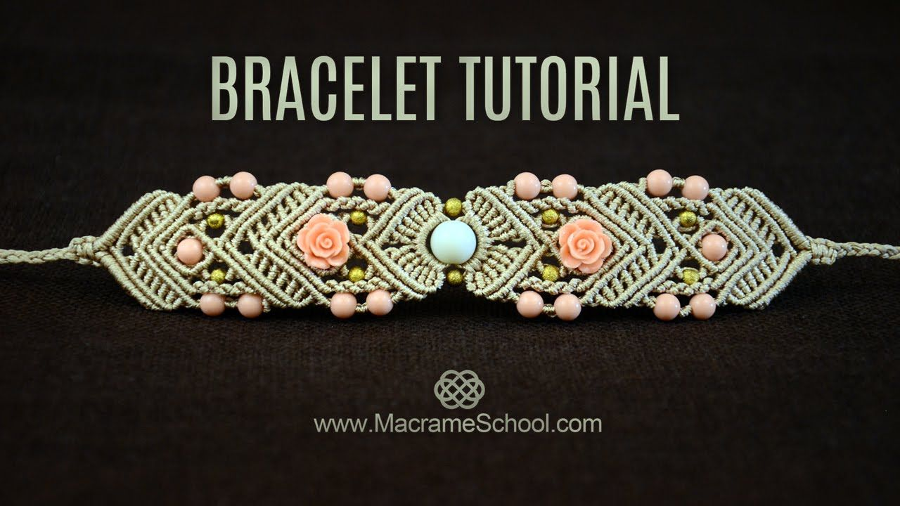 Mirrored Macramé Bracelet TUTORIAL by Macrame School ...