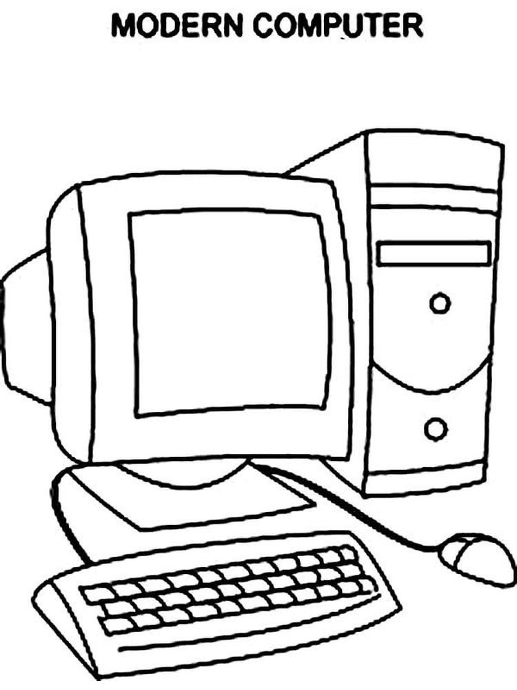 Free Computer Coloring Pages Who Doesn T Know A Computer Almost Everyone Has A Computer In Their Home A Comput Color Worksheets Kids Computer Coloring Pages