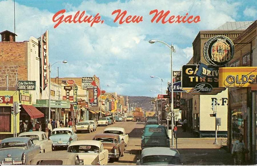 Route 66 Through Gallup New Mexico In The 50s