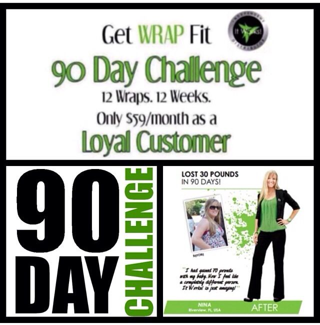 It's the beginning of a new month! Started off with the 90 day challenge!!!!12 wraps in 12 weeks only $59 A month as a loyal customer!!! Or you can purchase at retail for $99 a month ! Purchase the ultimate body applicator 818.391.9423  wrapitupwithtawnya@gmail.com    wrapitupwithtawnya.mhitworks.com  This is actual skin tightening and firming not water weight loss.Will also help with appearance of stretch marks and cellulite !!!Email me about products are purchasing as soon as possible!!