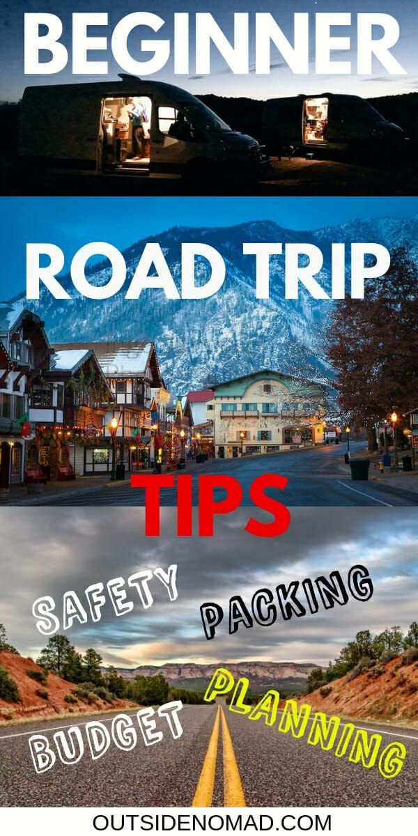 Expert Road Trip Tips To Make Traveling Easy #usroadtrip Planning a road trip?  Make it the best with these road trip tips.  US road trips are a great way to see national parks and other historic parts of the USA.  Budget friendly and affordable tips.  Prepare for your road trip with vehicle maintenance tips, safety, planning, accommodations, camping, and packing lists. via @outsidenomad #roadtrip