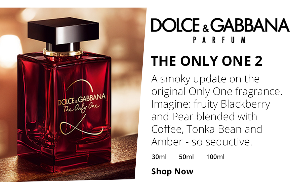 Dolce Gabbana The Only One 2 Eau De Parfum 50ml Dolce And Gabbana Perfume Fragrance Seduction