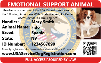 Emotional Support Animal Id Card Usa Service Animal Registration Emotional Support Animal Support Animal Emotional Support