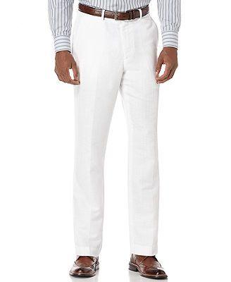 Perry Ellis Linen Pants/ natural linen