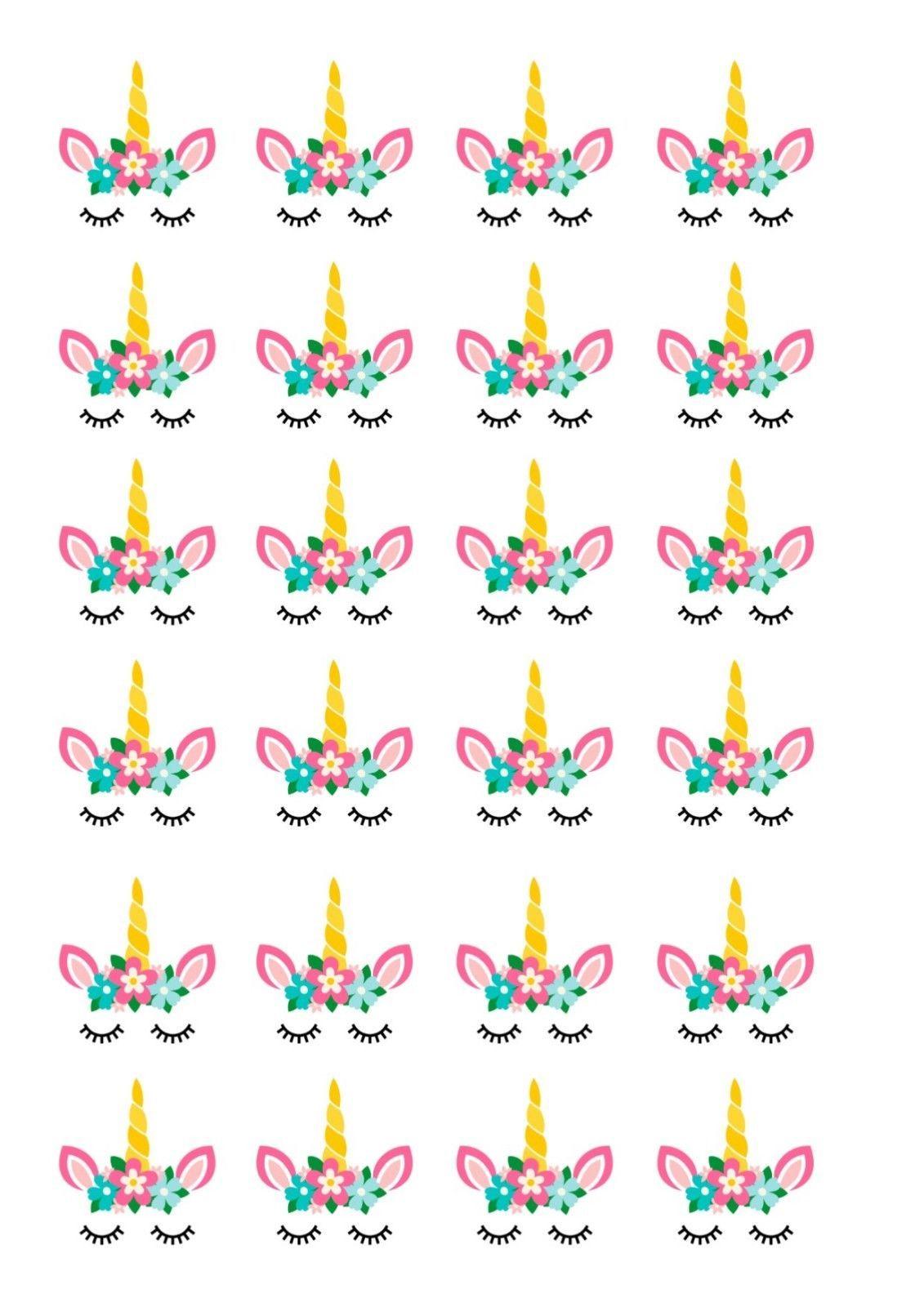1 99 Gbp 24 Edible Cupcake Fairy Cake Toppers Decorations Unicorn Unicorn Cupcakes Toppers Unicorn Birthday Party Decorations Unicorn Themed Birthday Party