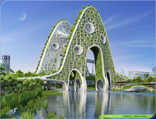 Paris smart city 2050 7 ville de demain pinterest for Architecture equilibre
