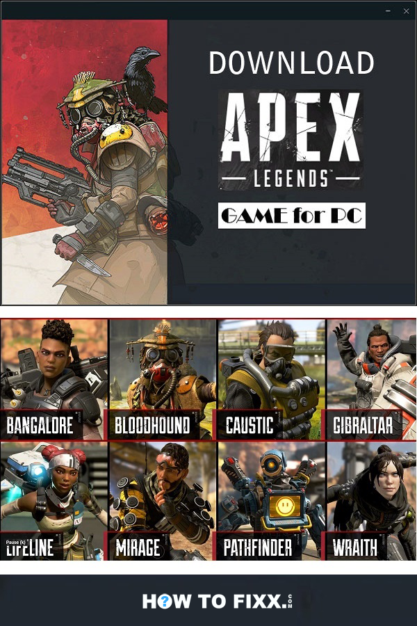Download Apex Legends Video Game for Windows 7, 8, 8.1 and