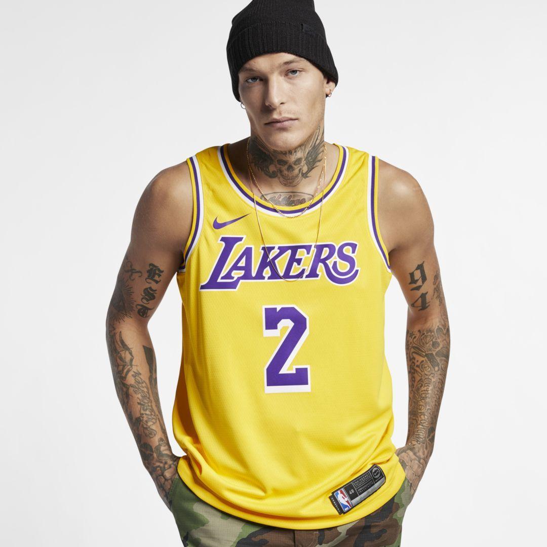0c5868b3956 Nike Men s NBA Connected Jersey LeBron James Icon Edition Swingman (Los  Angeles Lakers)