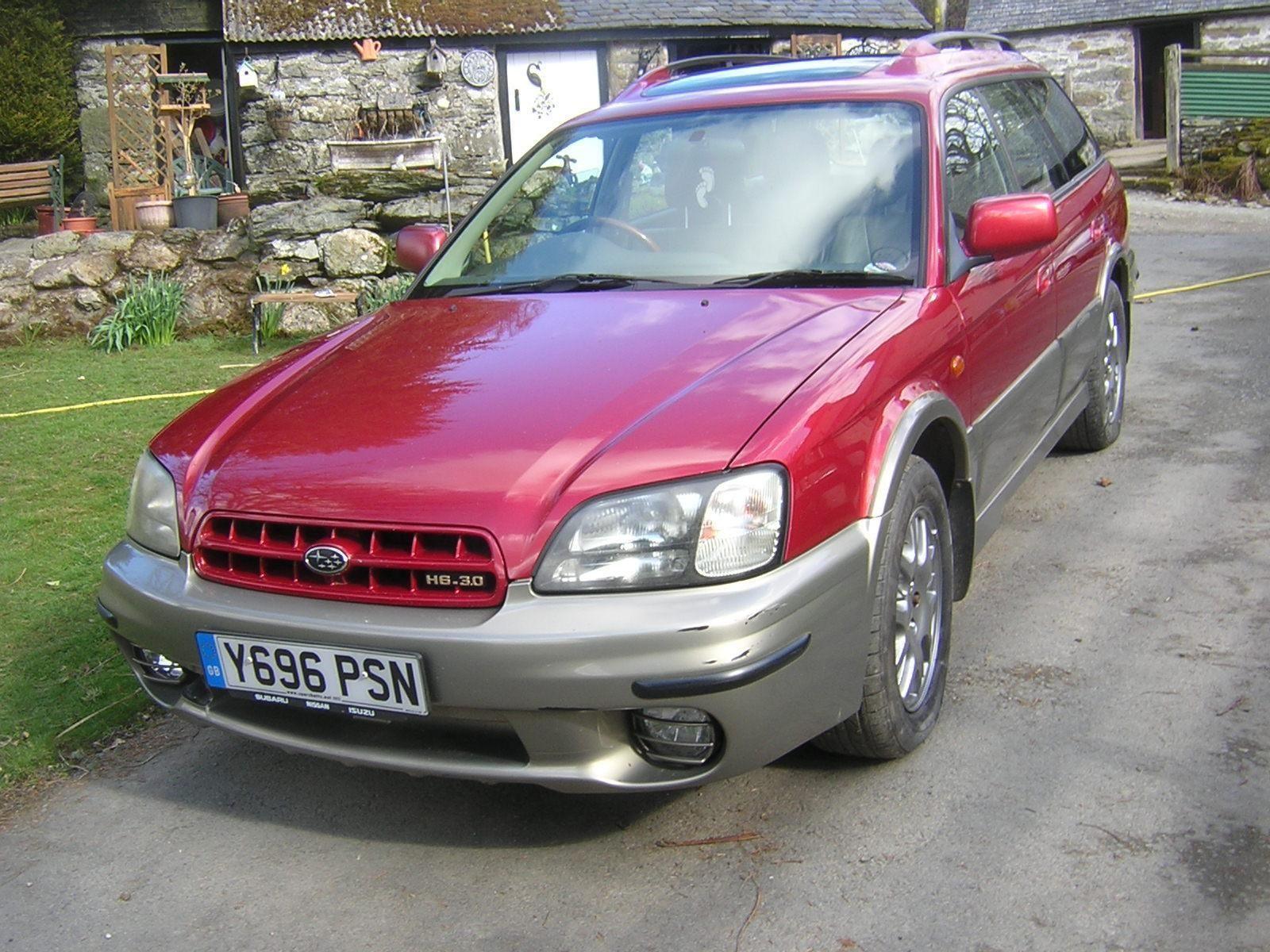 01 subaru legacy outback 30 h6 auto luxpack estate metallic red