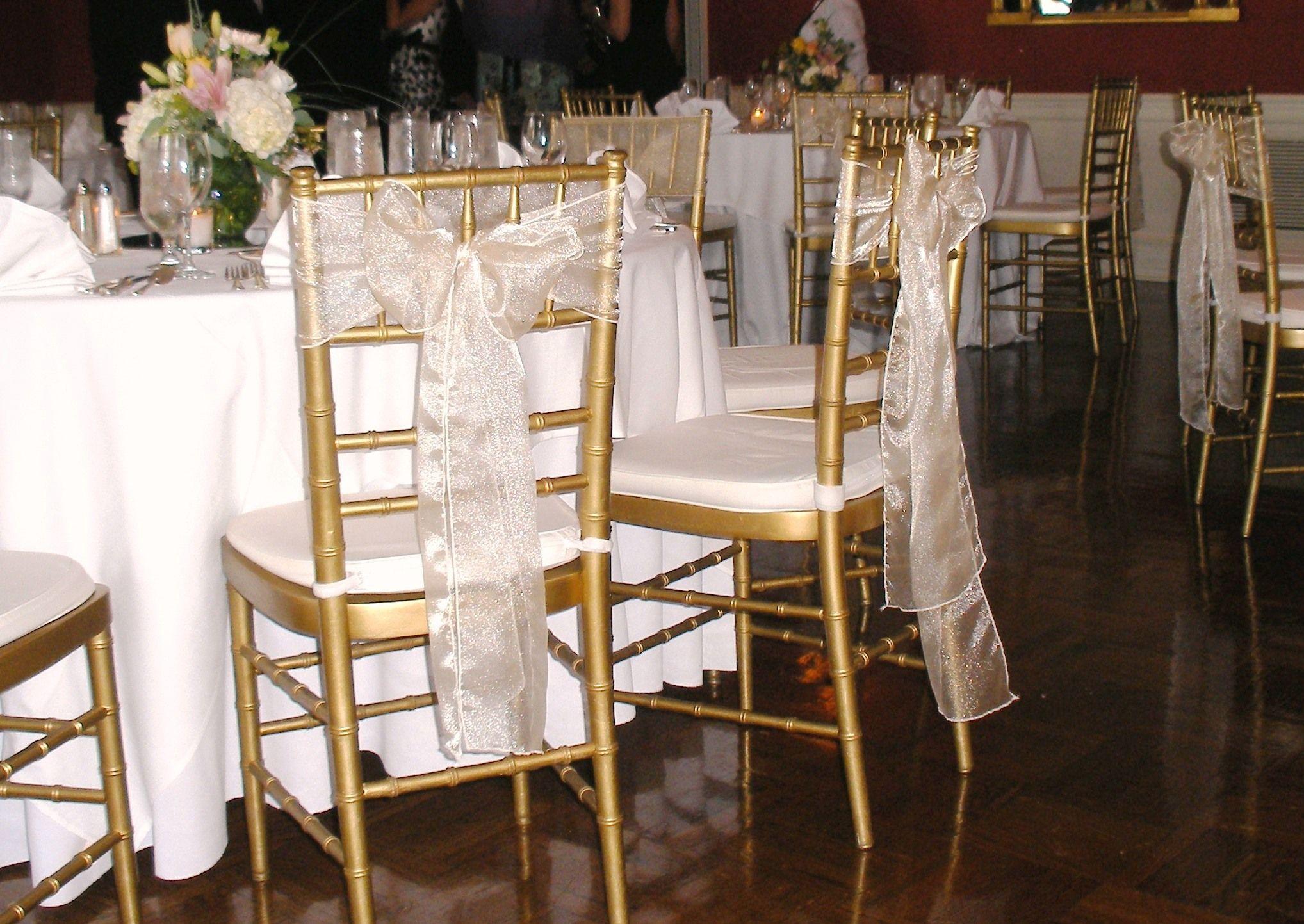 chiavari chair sashes Styling