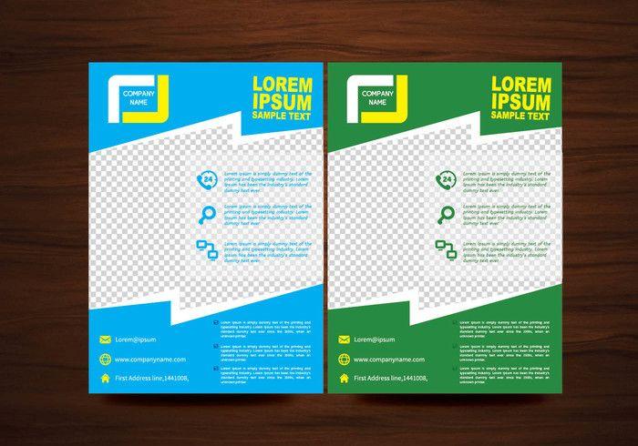 Vector Brochure Flyer Layout Template My Digital Sketchbook
