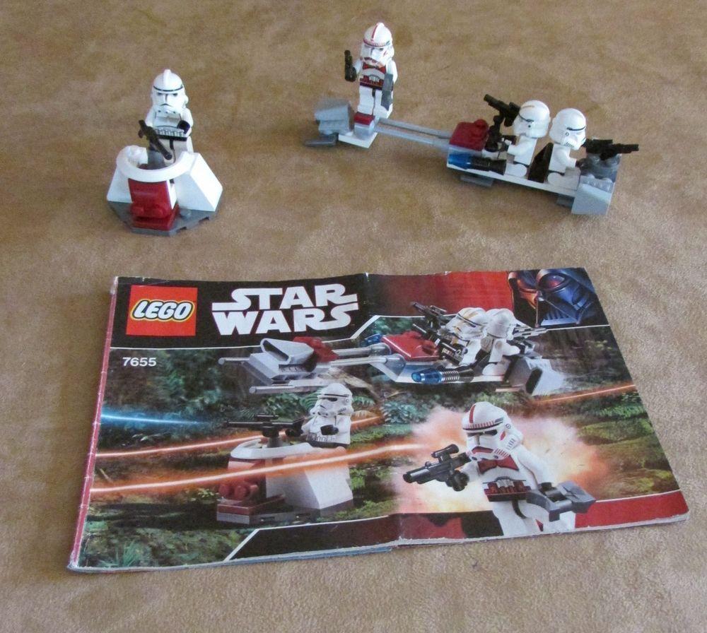 7655 Lego Star Wars Complete Episode Iii Clone Troopers Battle Pack