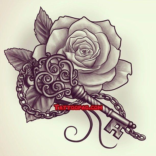 tattoo designs, rose tattoos and key tattoos. #tattoo #tattoos #ink