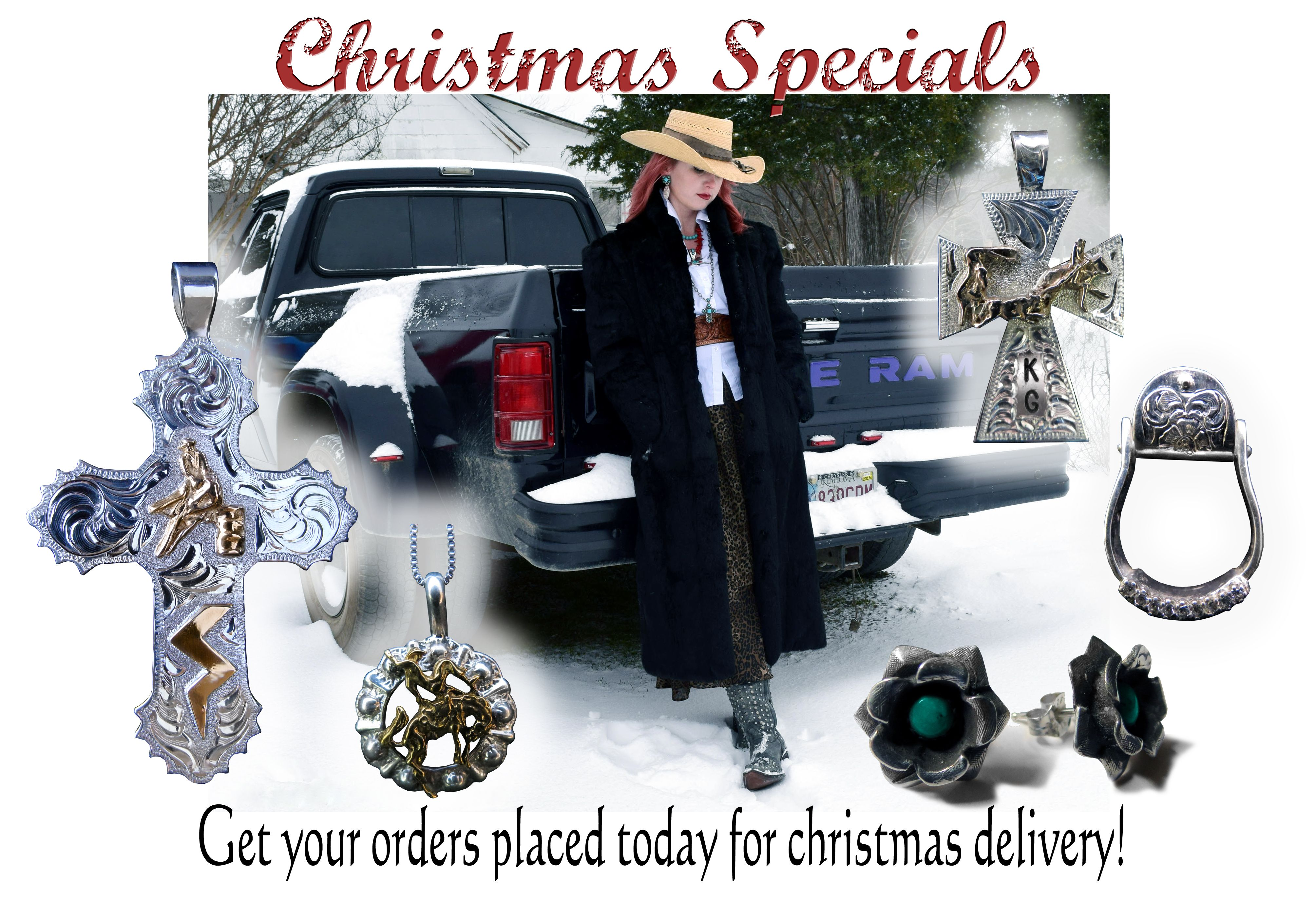Check out our updated website! And our Christmas Sale page! www.cowboyjewelers.com