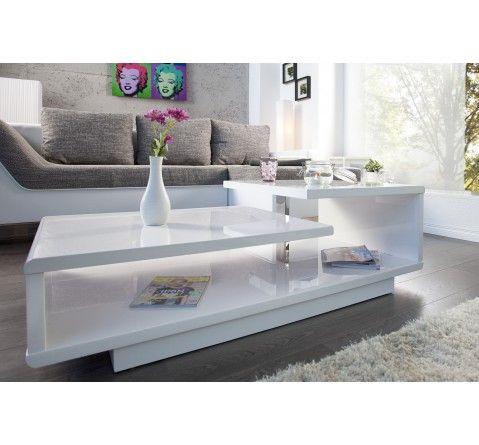 Royal Deco Table Basse Design Alice Blanc Laque 249 Maison