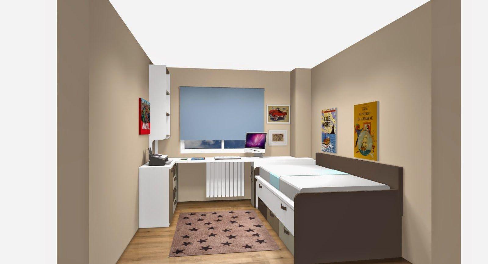 Dormitorio juvenil mesa estudio esquina buscar con - Habitacion infantil juvenil ...