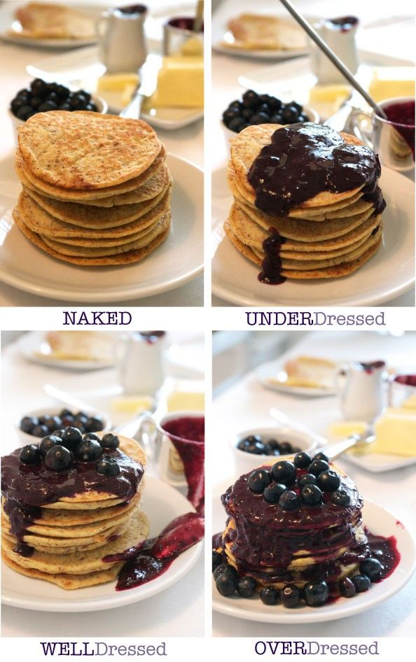 Big Gluten Free Blueberry Pancake Stack