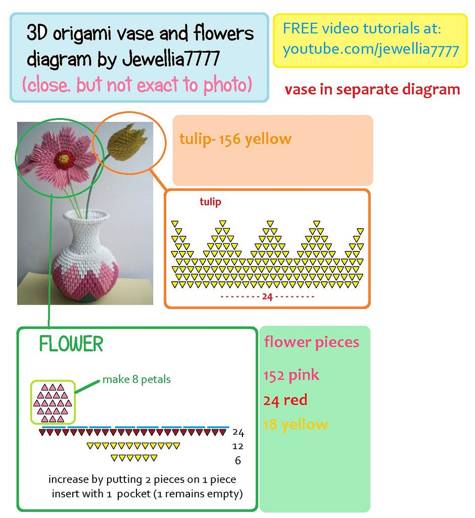 3d origami flower diagram block and schematic diagrams 3d origami flowers pinterest 3d origami origami and 3d rh pinterest com 3d origami flower basket instructions penguin 3d origami diagrams mightylinksfo