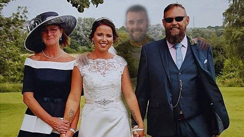 A bride who lost her brother weeks before her wedding makes him a part of her…
