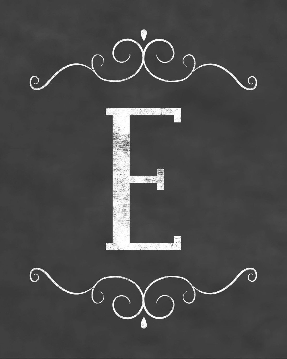 Free Initial Sign Printables