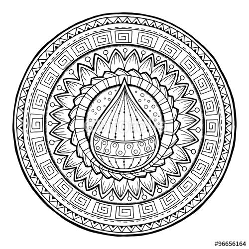 Doodle Water Drop On Tribal Mandala Stock Image And Royalty Free Vector Files On Fotolia Com Pic 9 Hand Art Drawing Mandala Coloring Pages Circle Doodles