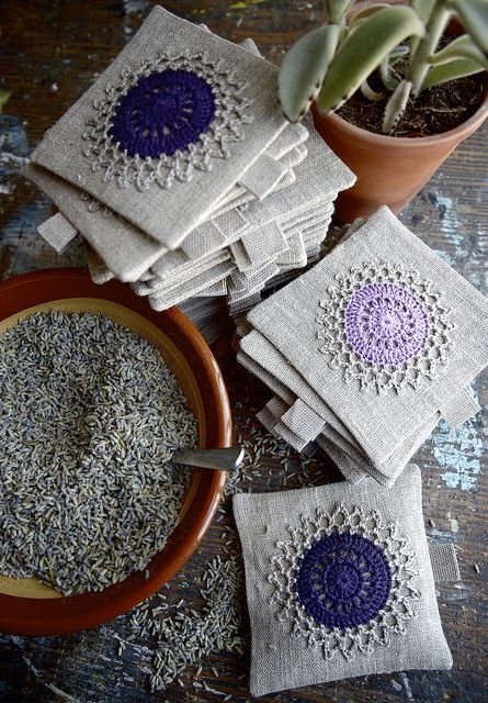 Lavender Sachets Lavendelsäckchen Lavendel Und Häkeln