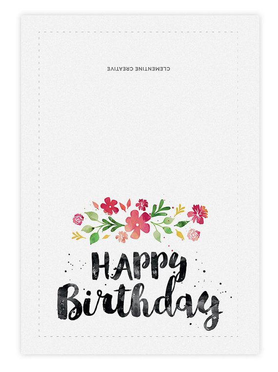 Printable Birthday Card For Her / Happy birthday card / Cute
