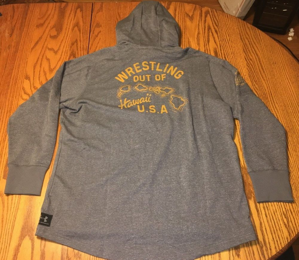 484f8f9b1bbfa0 NWT Men s Under Armour Project Rock Hawaii USA Hoodie Gray Wrestling Size   3XL  fashion  clothing  shoes  accessories  mensclothing  activewear (ebay  link)