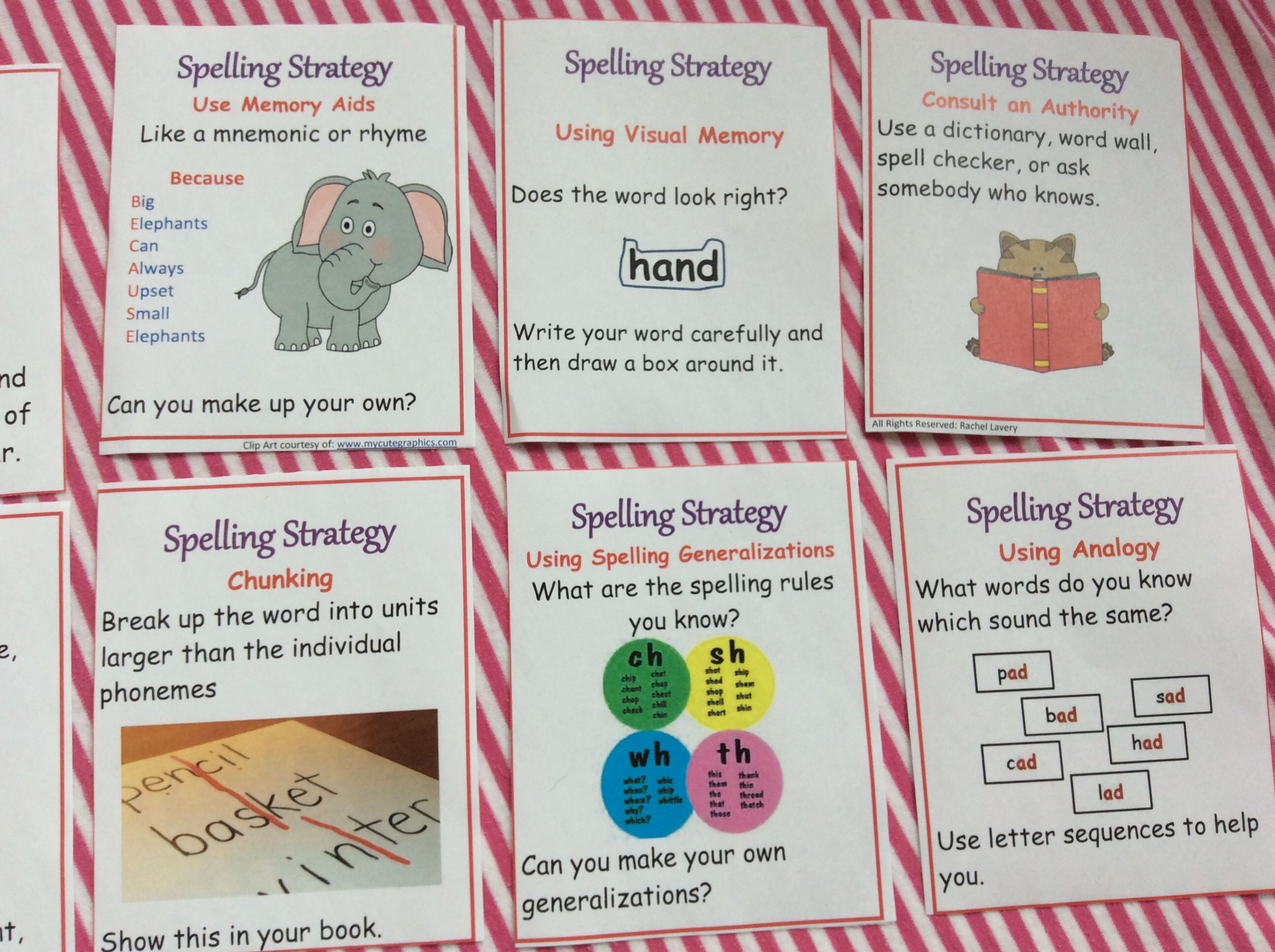 A super cute resource to help develop strategies for spelling