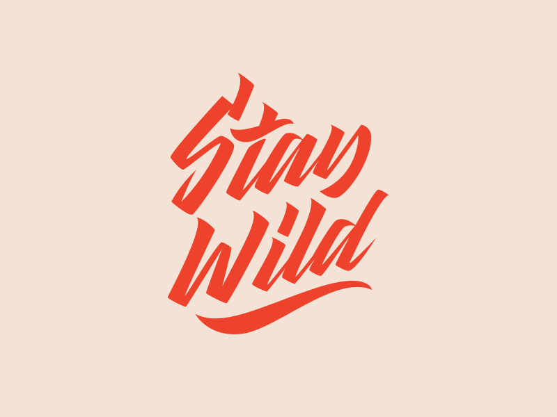 Stay Wild Logo For Clothing Brand Inspirational Life Quotes