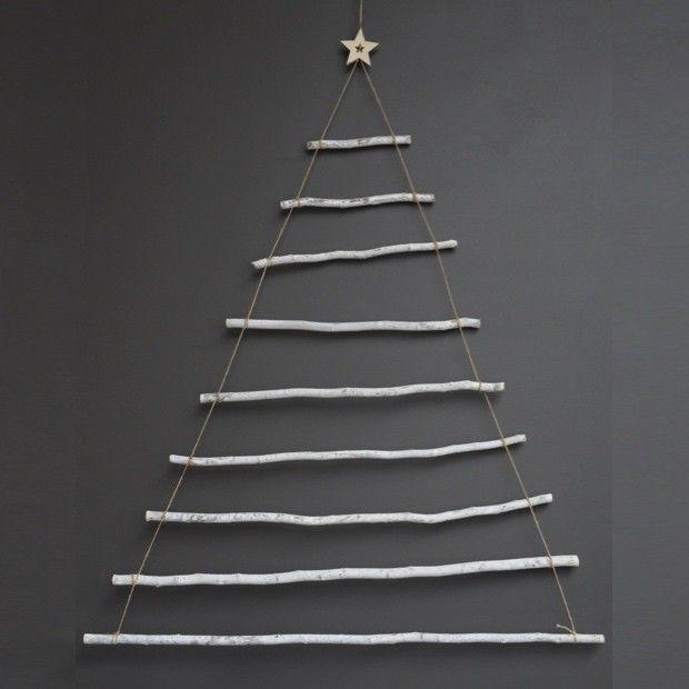 Wood Sticks Christmas Tree Wall Decor Stick