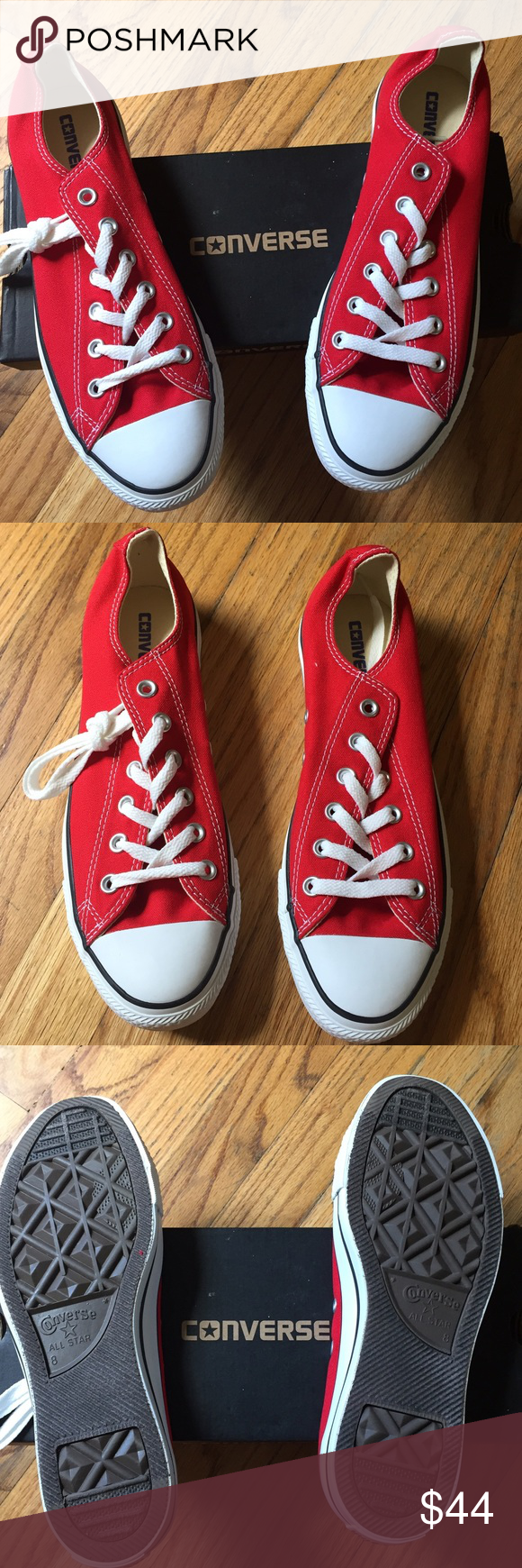 NWT Red Converse Unisex Sneakers. Size