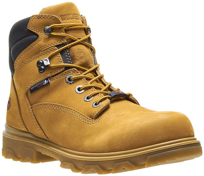 4b2f225e14e5 Wolverine Mens I-90 Waterproof Slip Resistant Composite Toe Work Boots Lace- up