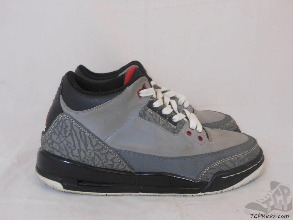 3b3b41ce125f5d Vtg OG 2011 Nike Air Jordan III 3 s sz 7y VII Stealth Retro Cement 88 Fire  White  Jordan  AthleticSneakers  tcpkickz