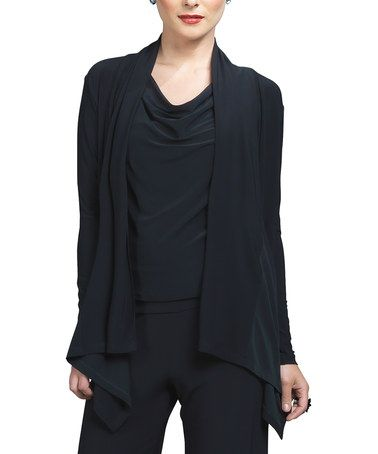 Take a look at this Black Open Cardigan - Women & Plus by Clara Sunwoo on #zulily today!