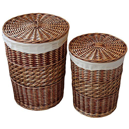 Kingwillow Laundry Storage Baskets With Lid Hamper Handma