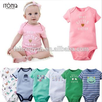 b0c9d078 New trendy high quality 100% cotton 1 year old baby cartoon clothes ...