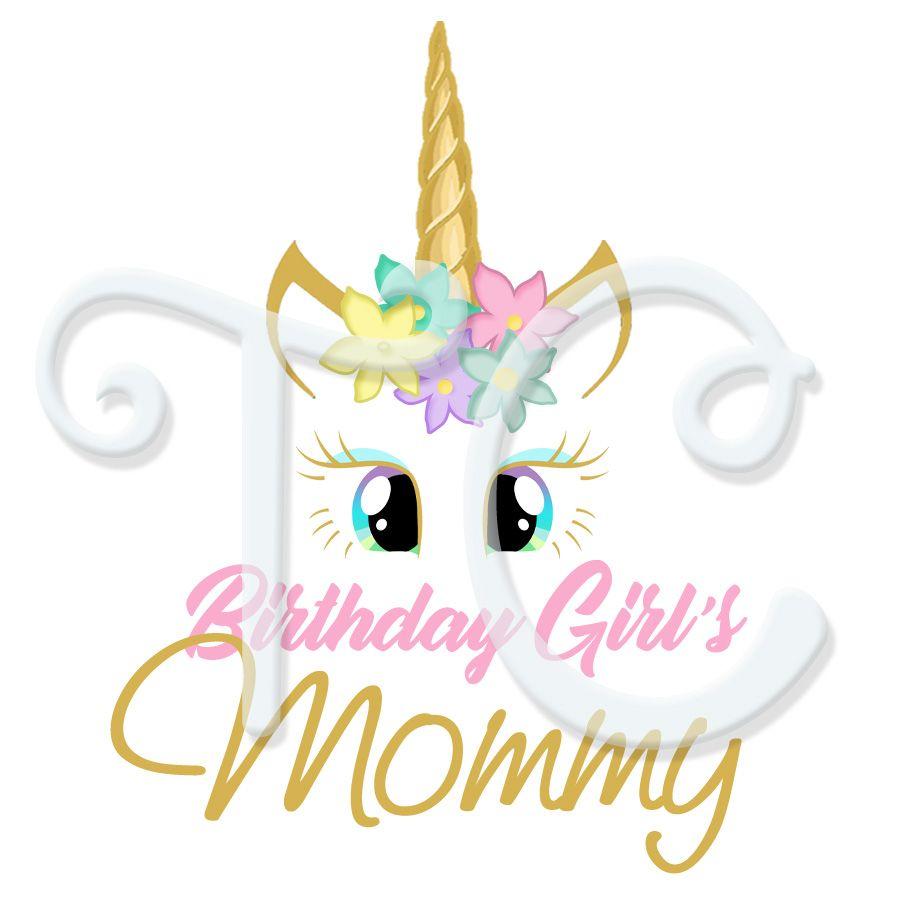 Parents Unicorn Personalized Birthday T Shirt