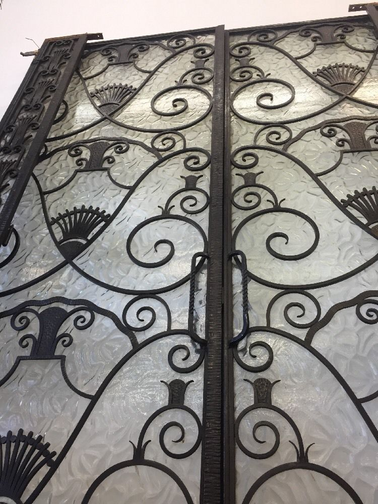 Details about Metal French Doors 1920's Art Nouveau Art ...
