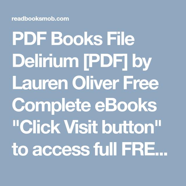 Ebook delirium