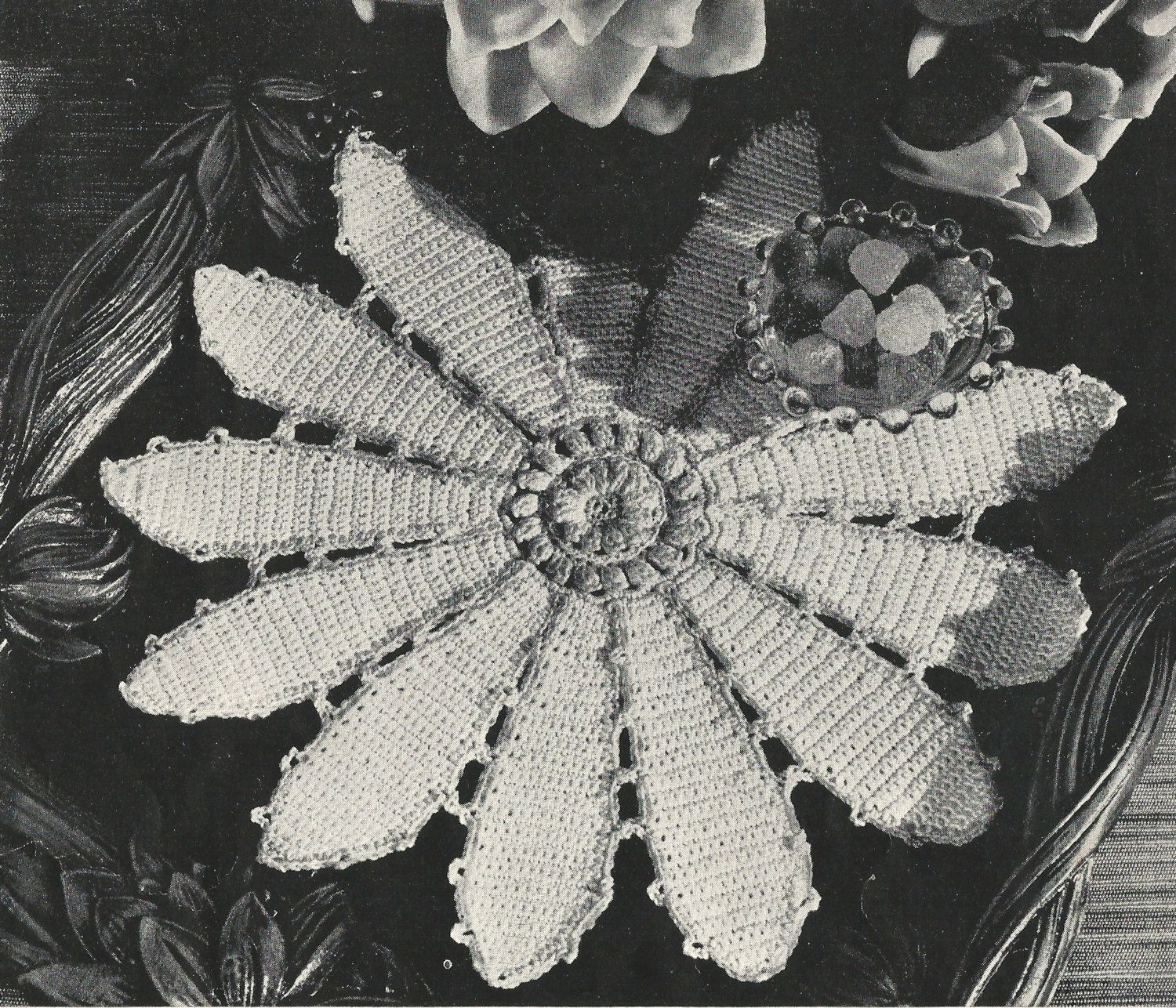 Pond Lily Doily Crochet PATTERN from a Star Book by BlondiesSpot