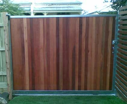 Sliding Gate Wood And Aluminum Something Like This To