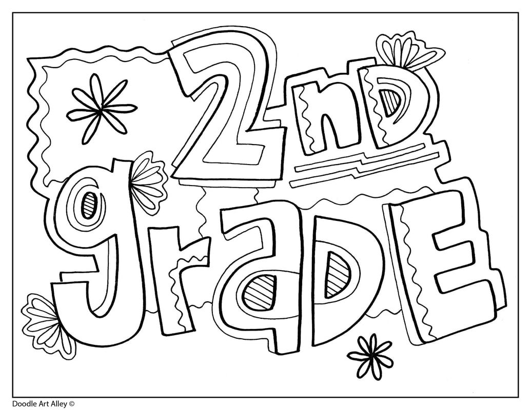 Grade Signs Classroom Doodles School Coloring Pages 2nd Grade Classroom School Signs