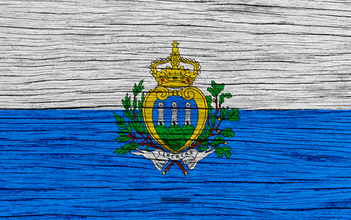 Download Wallpapers Flag Of San Marino 4k Europe Wooden Texture