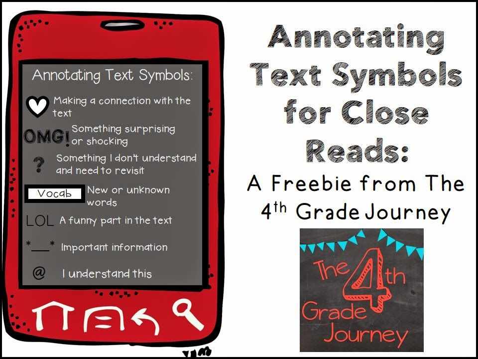 Friday Freebie For Annotating Text Annotating Text Language Arts