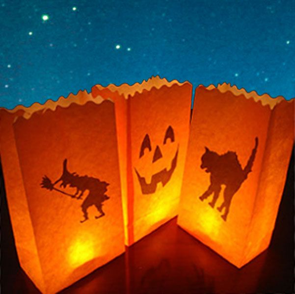 Cake Decorations Halloween Candle Bags £699 10pk halloween party - halloween scene setters decorations