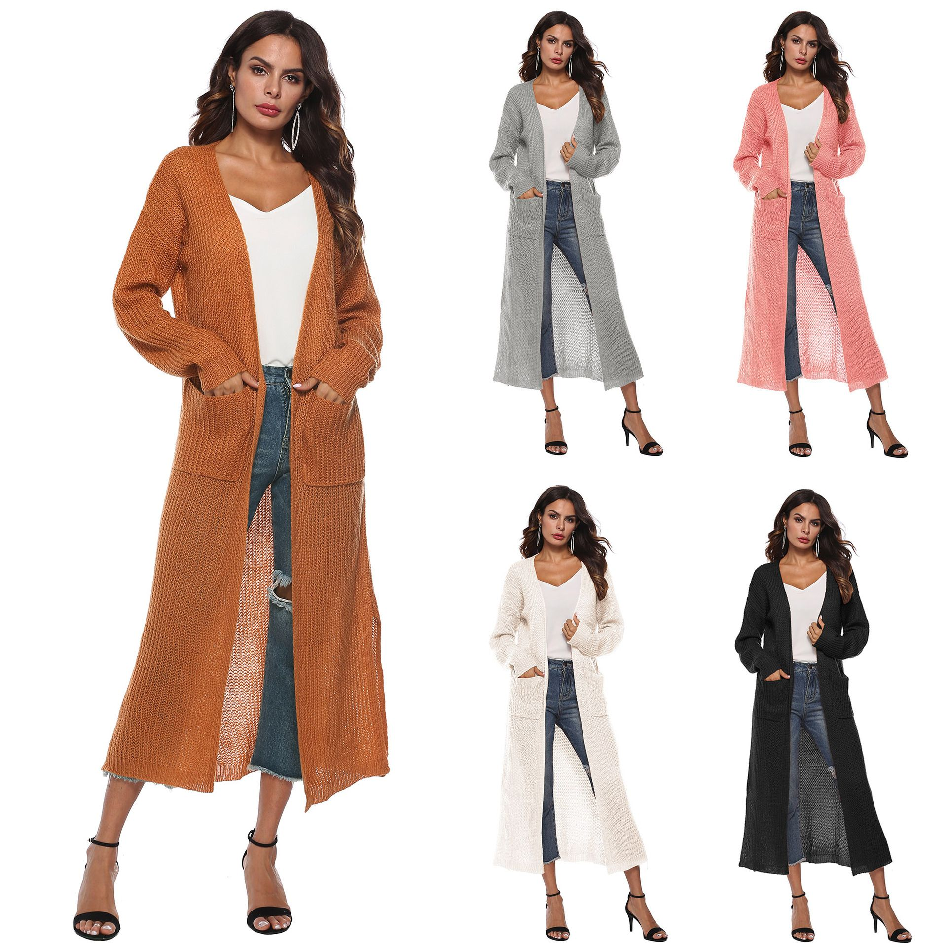 Ankle Length Casual Open Front Cardigan | Casual cardigan