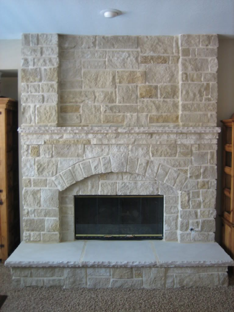 Stone veneer fireplace installs texas hunting forum for Brick and stone veneer
